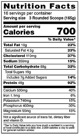 Amazon.com: Suplemento dietario True Mass BSN., 1052270, 1 ...
