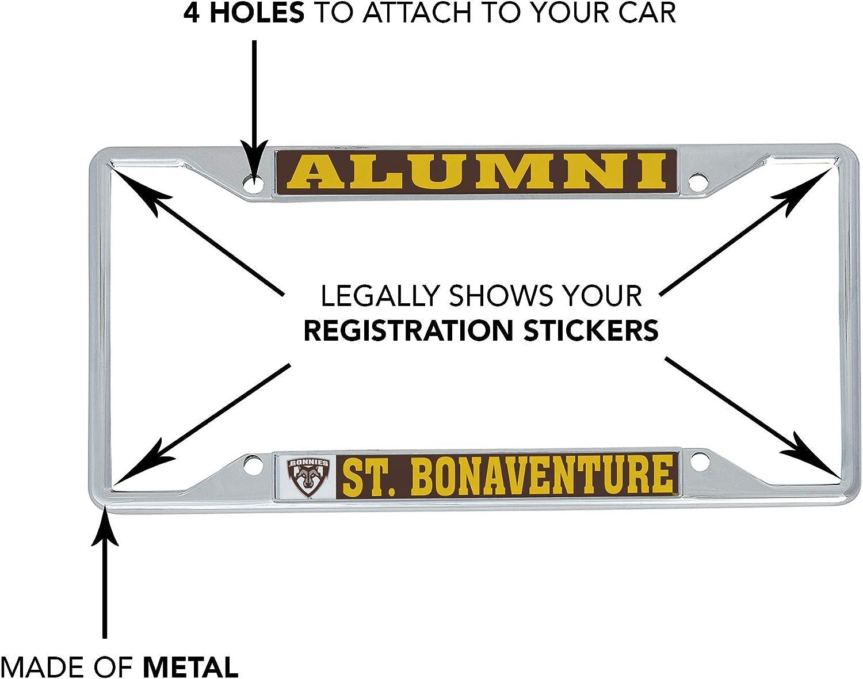 Alumni Desert Cactus St Bonaventure University SBU Bonnies NCAA Metal License Plate Frame for Front Back of Car Officially Licensed
