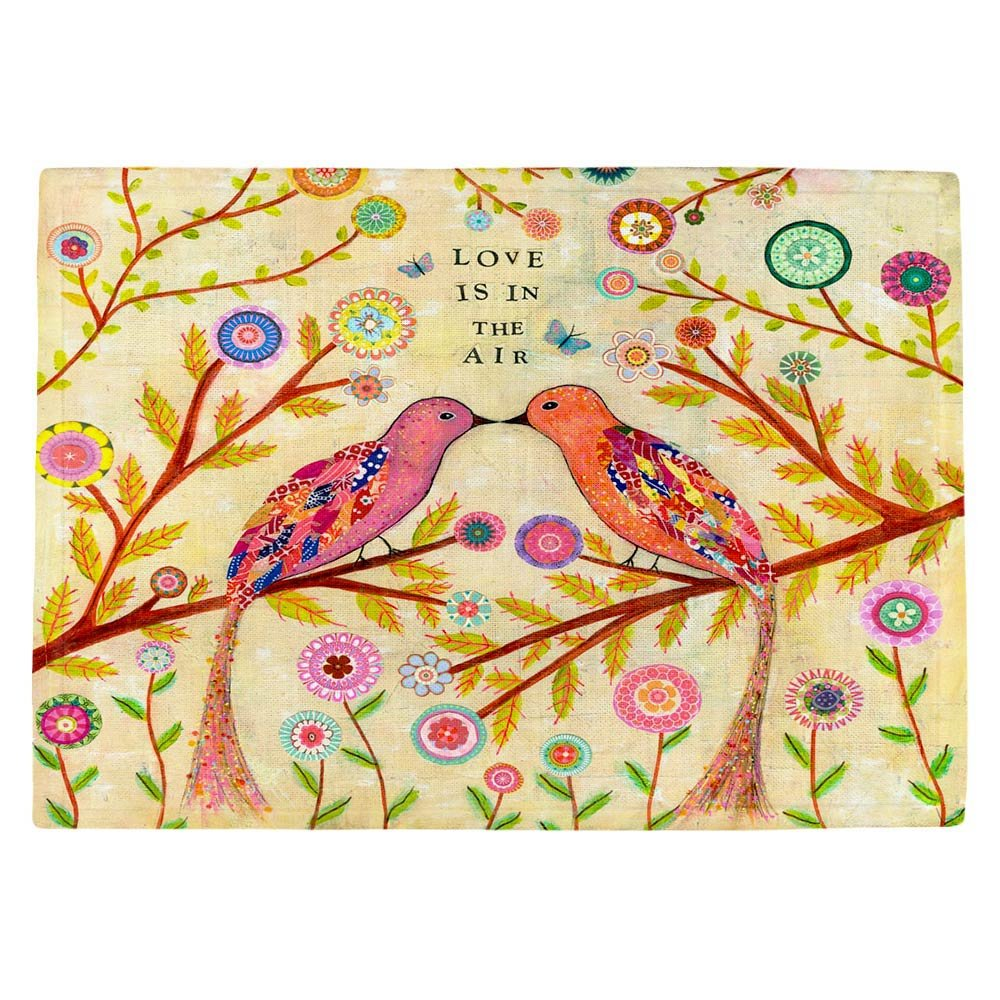 DIANOCHEキッチンPlaceマット、型破り、 – Love Birds Set of 4 Placemats PM-SascaliaLoveBirds2 Set of 4 Placemats  B01EXSIVS2