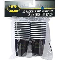 Silver Buffalo DC Comics Batman Logo Mini de plástico, 20 piezas, 20 piezas, negro