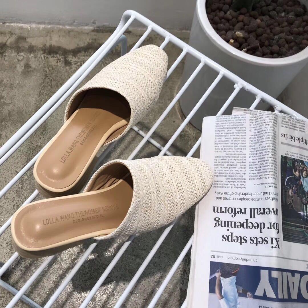 Angrousobiu Sommer Sandalen Damen Sandalen Böhmen reisen Hausschuhe Hausschuhe Hausschuhe mit flachen Hausschuhe Frauen Sandalen gewebt bf28a3