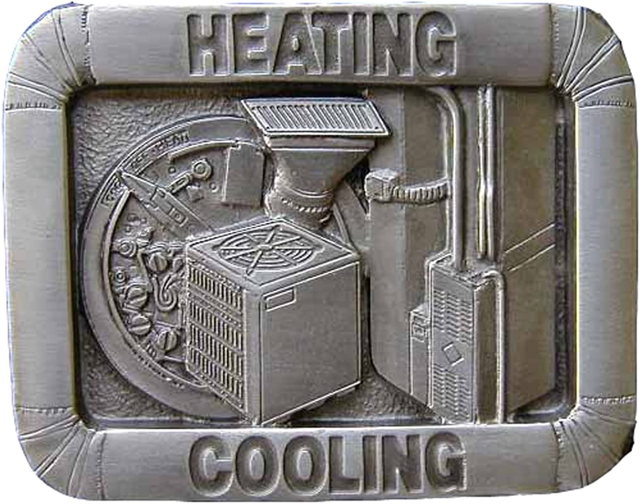 Heating & Cooling Novelty Belt Buckle