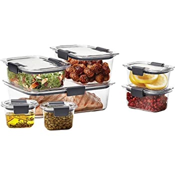 Amazon.com: Rubbermaid Brilliance Food Storage Container, Small, 1.3 Cup, Clear, 2-Pack ...