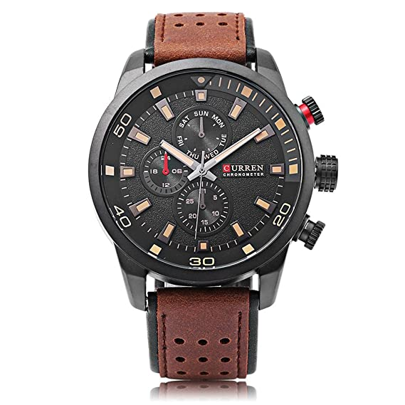 CURREN 8250 Sport Men Quartz Watch Moda Simple Relogio Masculino Hombres Relojes Militares: Amazon.es: Relojes