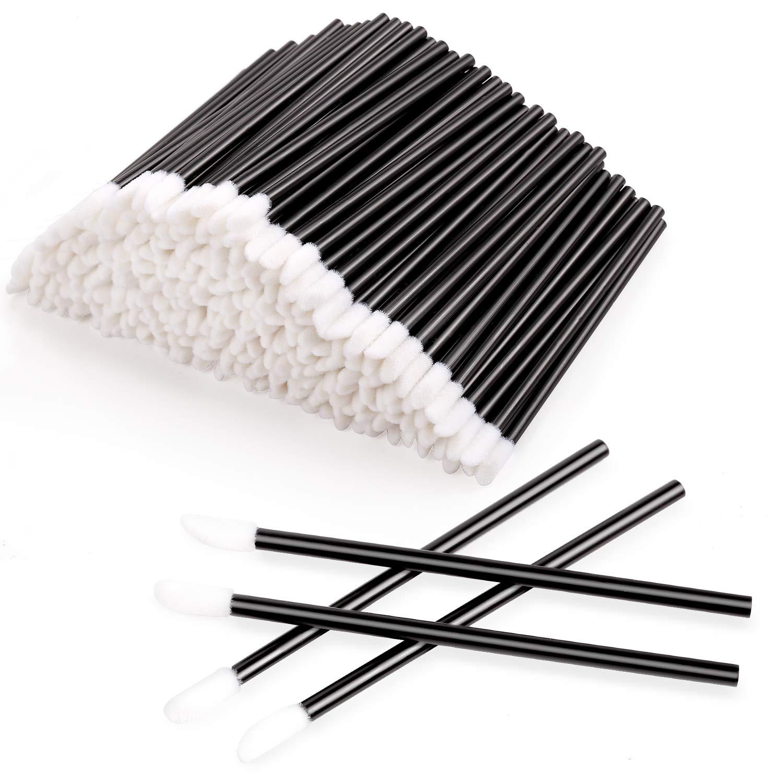 300pcs Disposable Lip Brushes Make Up Brush Lip Gloss Applicators Lipstick Wands Tool Kits Lip gloss Applicators Tester Wands (black) (300): Beauty