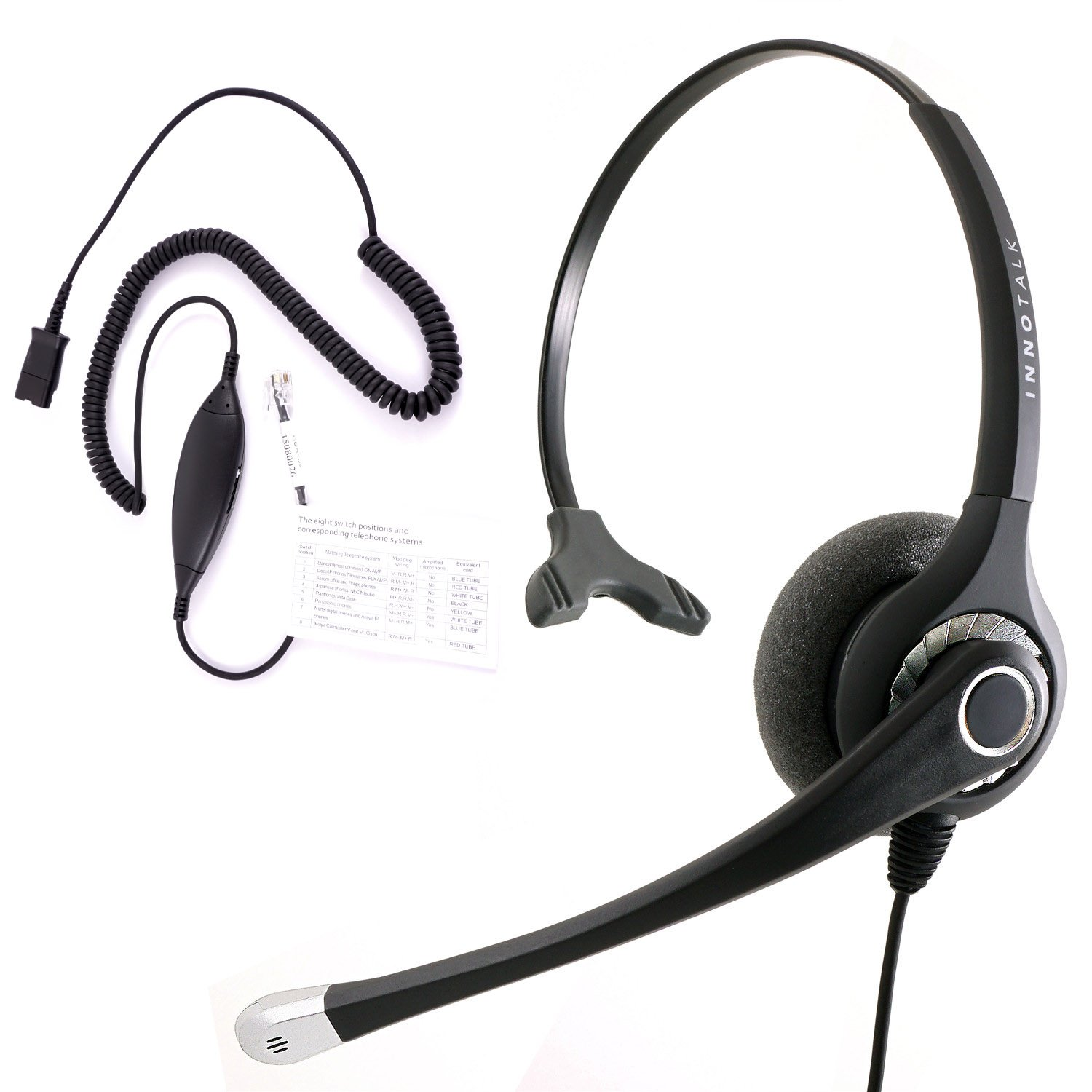 Rj9 Headset Best Sound Phone Cisco Avaya Telephone Wiring Diagram Panasonic Virtual Compatibility Adapter Built In Plantronics Compatible Qd