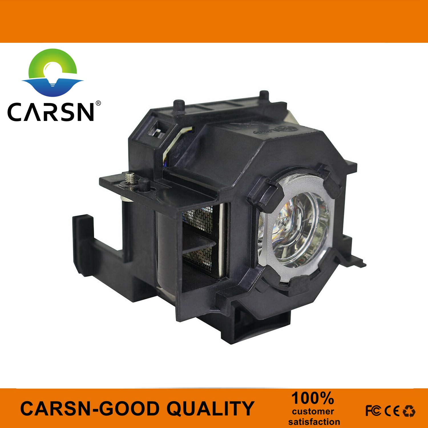 Lamp with Housing by CARSN ELP-LP41 Replacement Projector Lamp for Epson EB-S6 EB-S62 EB-TW420 EB-W6 EB-X6 EB-X62 EH-TW420 EMP-77C EMP-S5 EB-X6LU EX30 EMP-X6 EX21 EX50 EX70 PowerLite 78