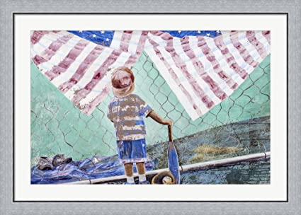 Amazon.com: Portion of a mural in Lompoc, California Framed Art ...