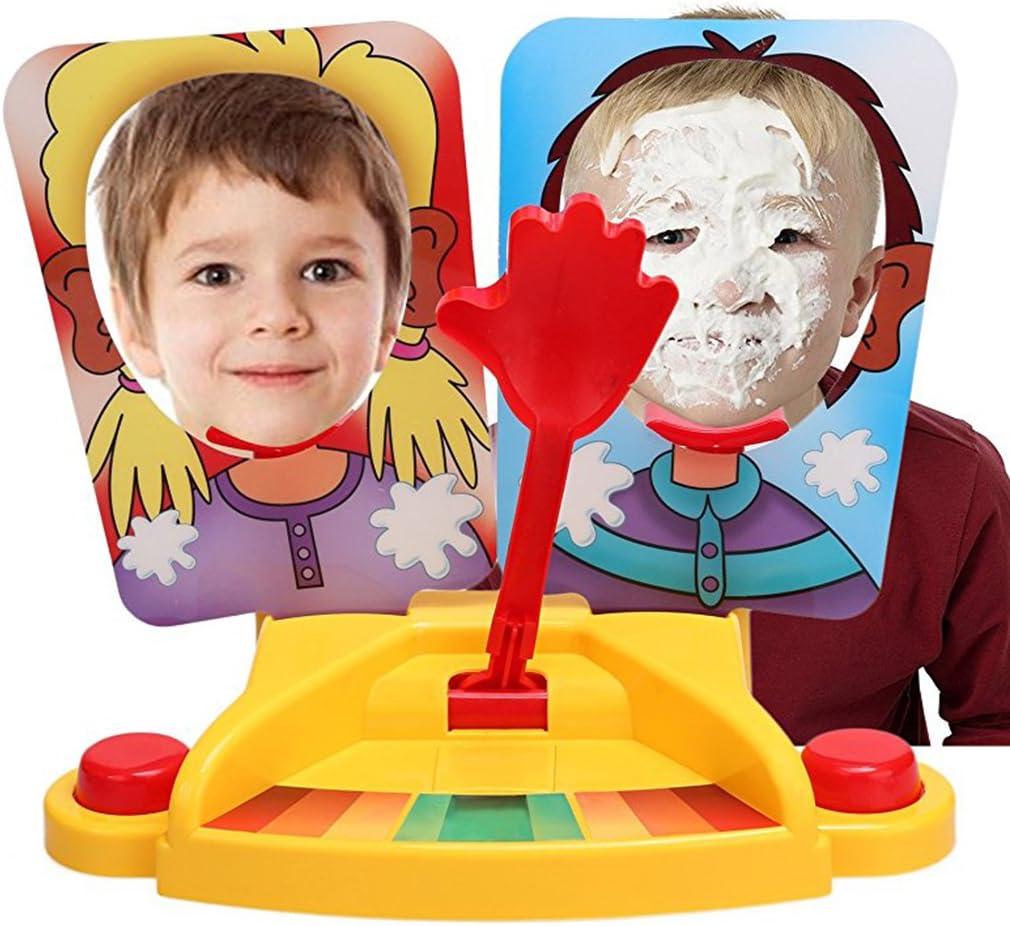 Ncient Cara Splash Pie Face Showdown Doble Juego de Mesa Juguete Regalo para Niños Adultos de Más de 6 Años de Edad Juego de Acción y Reflejo Golpe en Cara para Dos