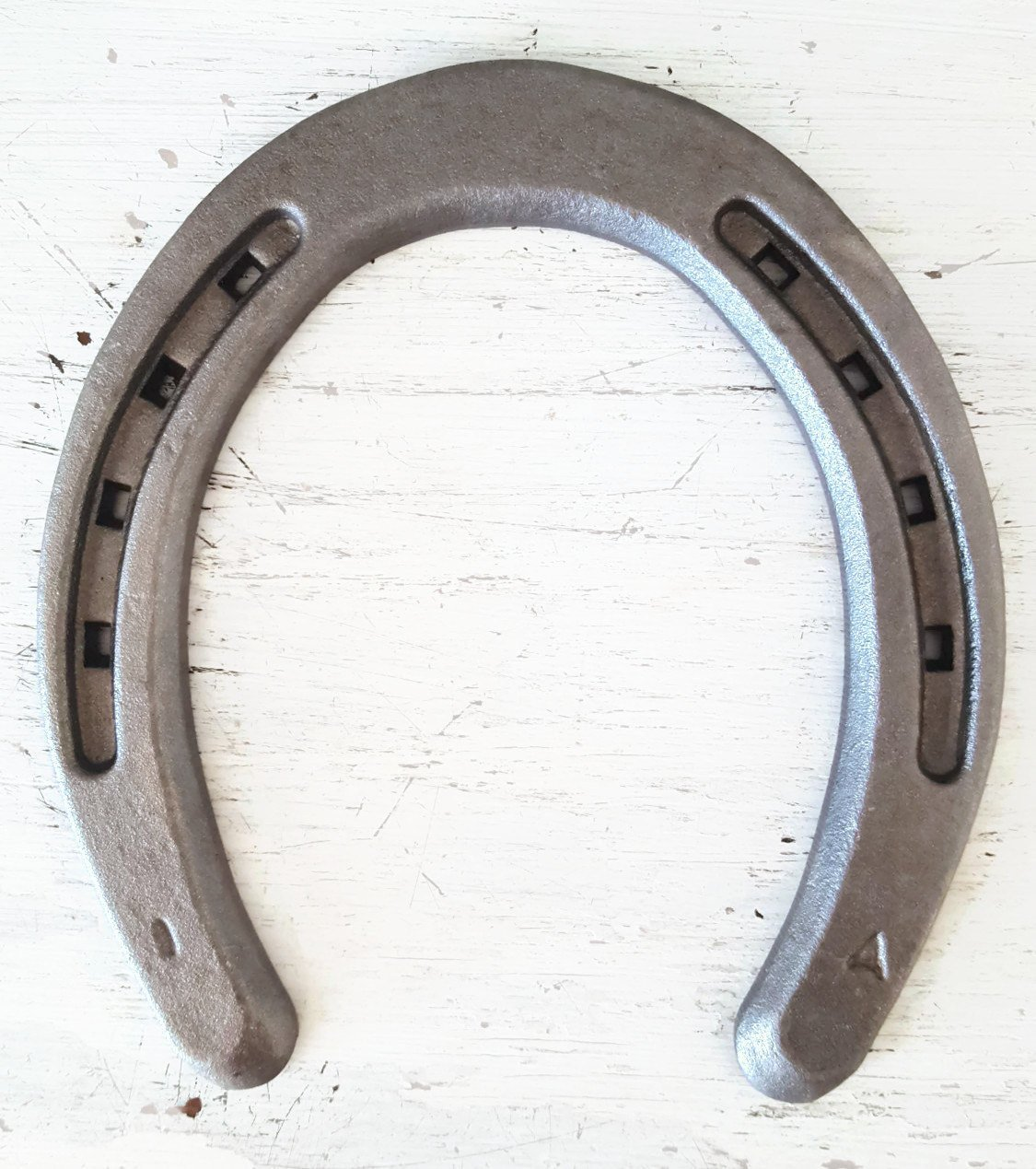 New Steel Horseshoes - Plain Shoe Size 1 -Sand Blasted- Heritage Forge - 40 Shoes by The Heritage Forge