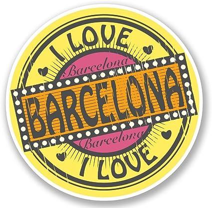 2 x Barcelona España vinilo adhesivo de vinilo para portátil de viaje equipaje coche iPad Sign Fun # 5704: Amazon.es: Coche y moto