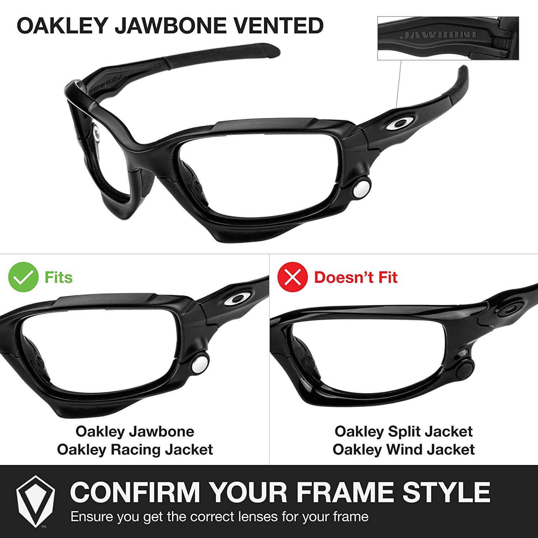 Revant Lentes reemplazo + Kit de goma MaxGrip® para Oakley Oakley Jawbone Vented - Sigiloso Negro: Amazon.es: Ropa y accesorios