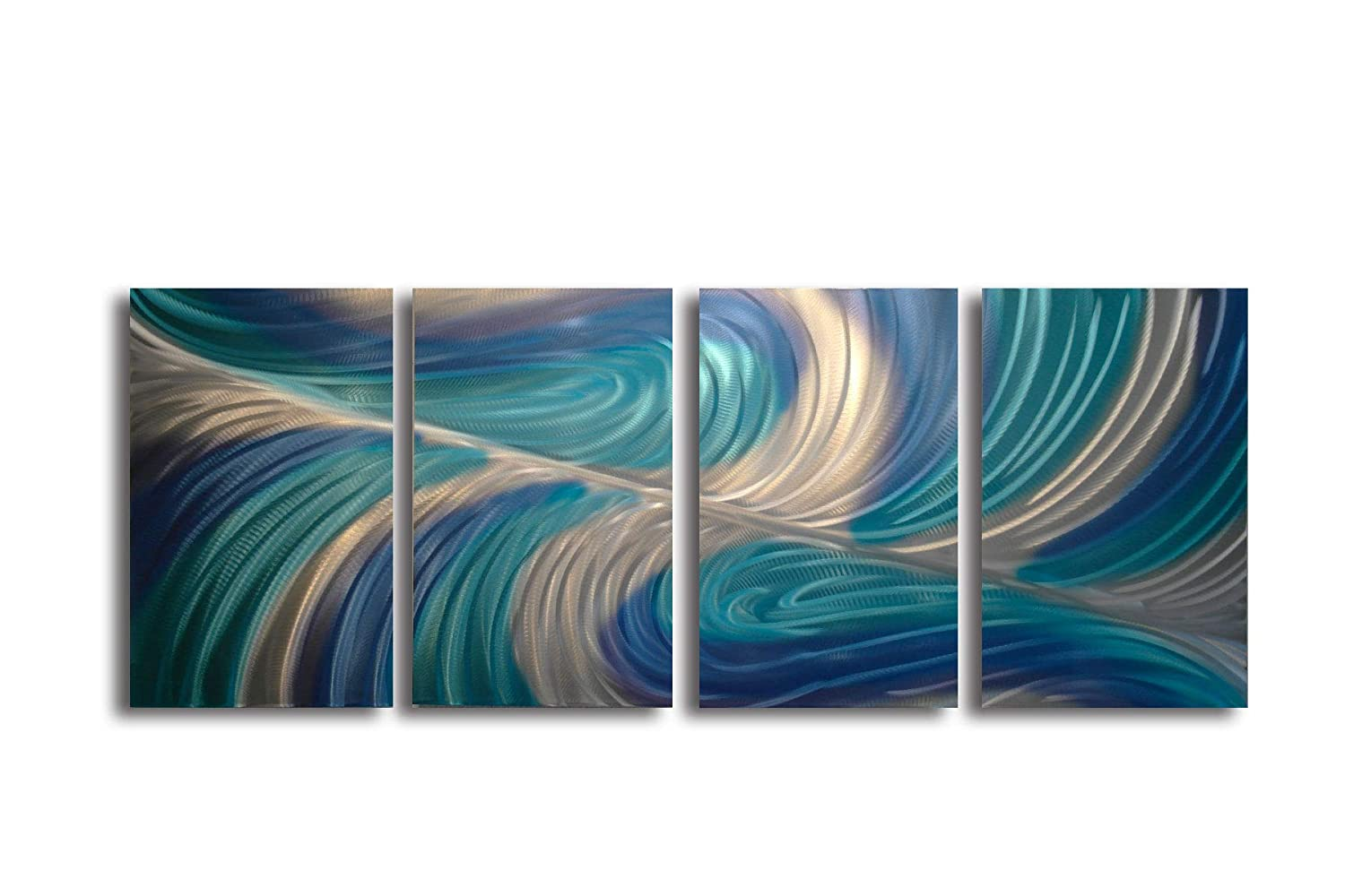 Amazon com miles shay echo 3 blues metal wall art modern home decor abstract artwork sculpture home kitchen