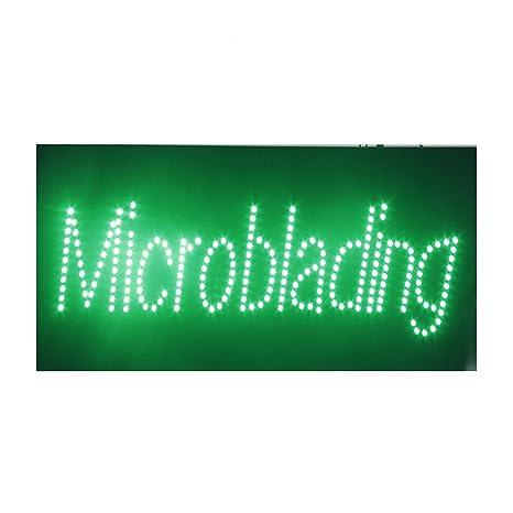 Amazon.com: Cartel de luz LED para cejas con microblading y ...
