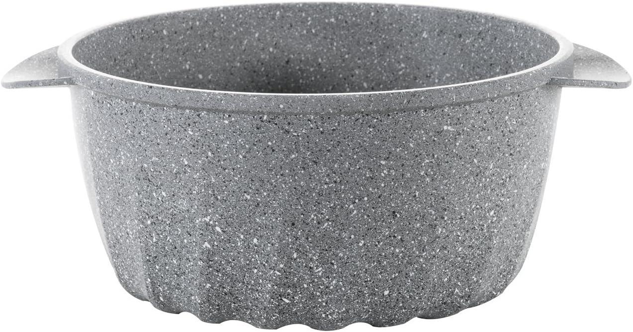 Mopita Rider 37cm x 25cm//14.56 x 9.85 Non-Stick Cast Aluminum Roasting Pan Large Grey