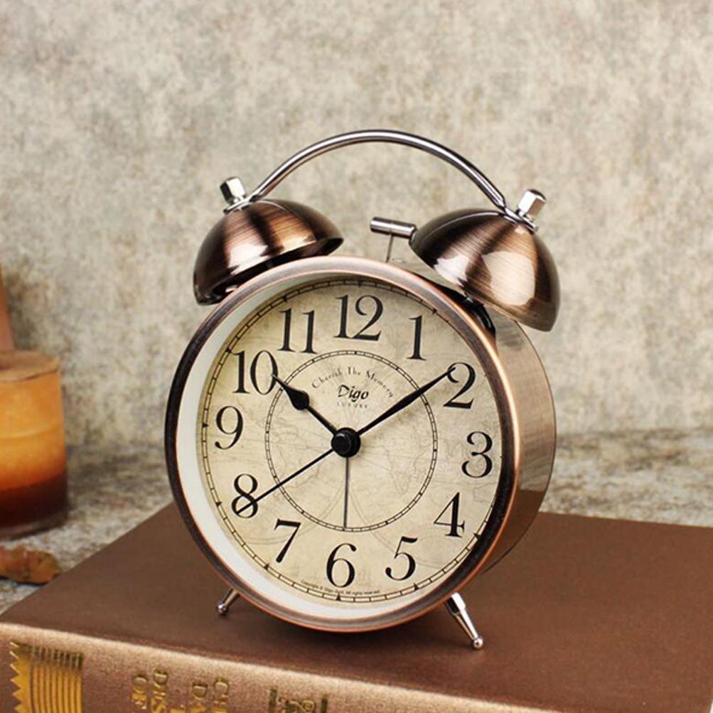 DXNSPF-125 Reloj despertador de campana doble de 4