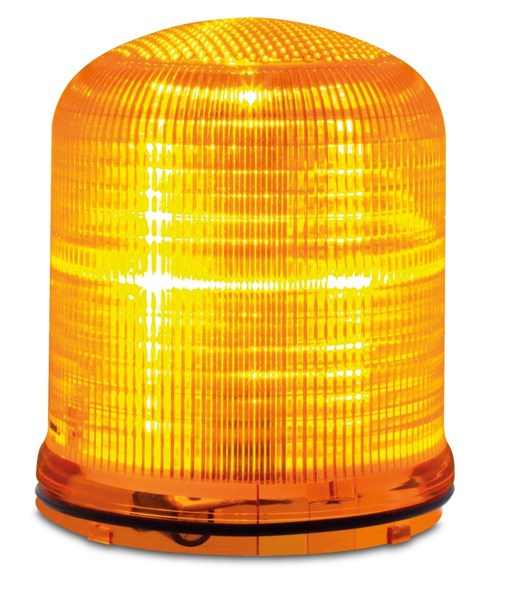 Federal Signal SLM200A Streamline Modular Multi-Pattern LED Beacon, Amber, Required Base Sold Separately, Polycarbonate