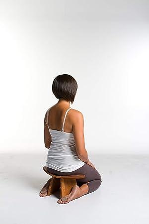 BLUECONY IKUKO Original Meditation Bench, Travel Version, Hand Made Eco Friendly Wooden Kneeling Ergonomic Seiza Seat, Prana Yoga - 2 Colors, 3 Height ...