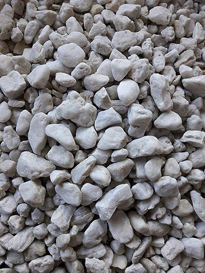 Der Naturstein Garten 25 kg Quarzkies 16-32 mm wei/ß Zierkies Quarzsand Splitt Kies Lieferung KOSTENLOS