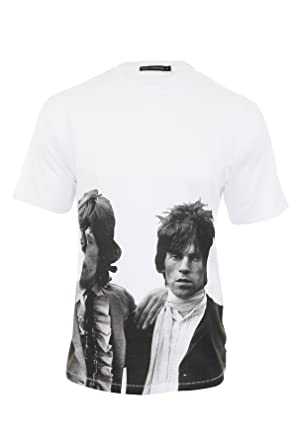 375f7620b52 French Connection Mens FCUK Mick Jagger/Ronnie Wood Stones Legend T- Shirt  Ltd Edition: Amazon.co.uk: Clothing
