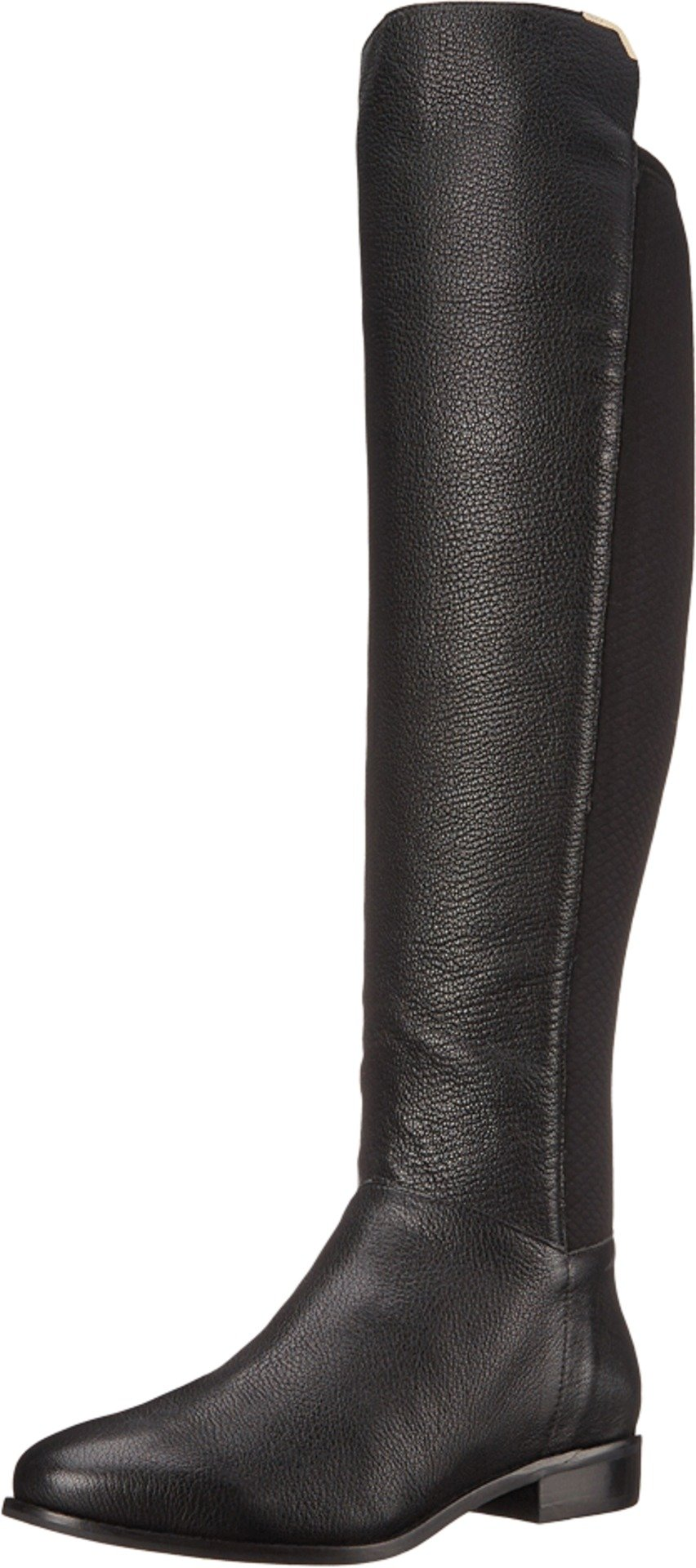 Cole Haan Women's Dutchess OTK Motorcycle Boot, Black Leather, 7 B US