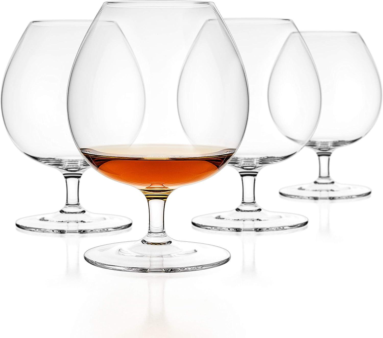 Amazon.com: Luxbe - Juego de 4 copas de brandy y coñac de ...