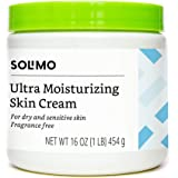 Amazon Brand - Solimo Ultra Moisturizing Skin Cream for Dry & Sensitive Skin, Dermatologist Tested, Fragrance Free, 16…
