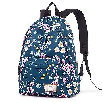 Amazon.com: Mochila para niñas, Moda Floral College Bolsas ...