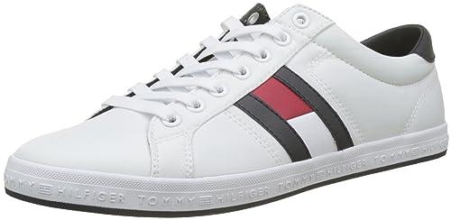 Tommy Hilfiger Essential Flag Detail Sneaker, Zapatillas para Hombre: Amazon.es: Zapatos y complementos