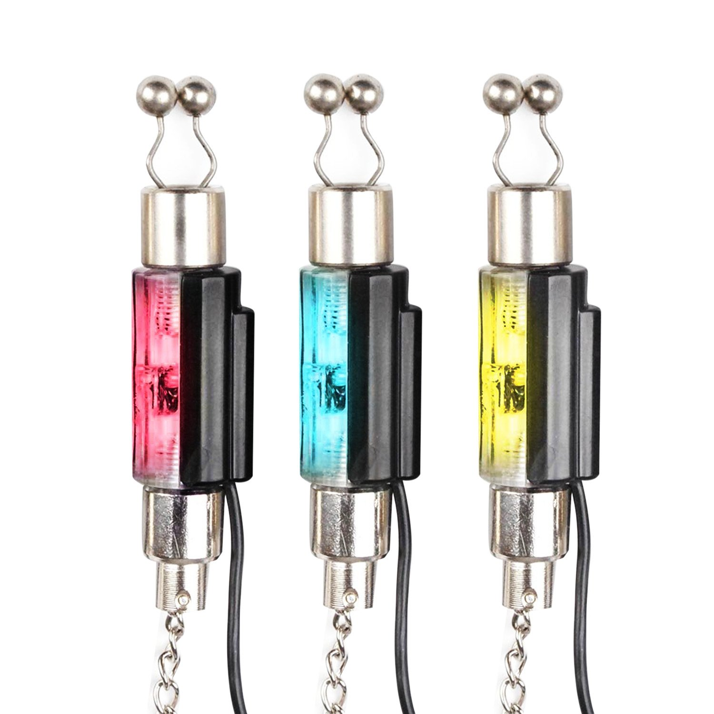 (Lot de 3) Chaîne style LED illuminée Swinger Indicateur de cintres pour la pêche à la carpe alarmes Système par Discoball