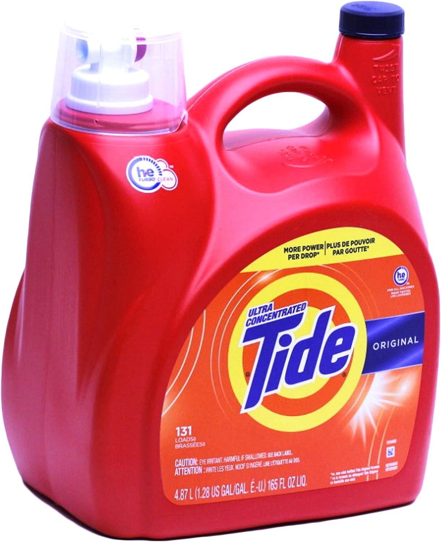 Tide High Efficiency, Ultra Concentrated Original Liquid Laundry Detergent 4.87 L/165 Fl. Oz - 131 Loads