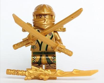 Amazon Com Lego Ninjago The Gold Ninja With 3 Weapons Toys Games