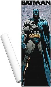 "Batman Poster Decal - Giant Peel and Stick Batman Wall Decal Poster Room Decor for Boys Girls Kids, 11.75"" x 36"" (Batman Merchandise)"