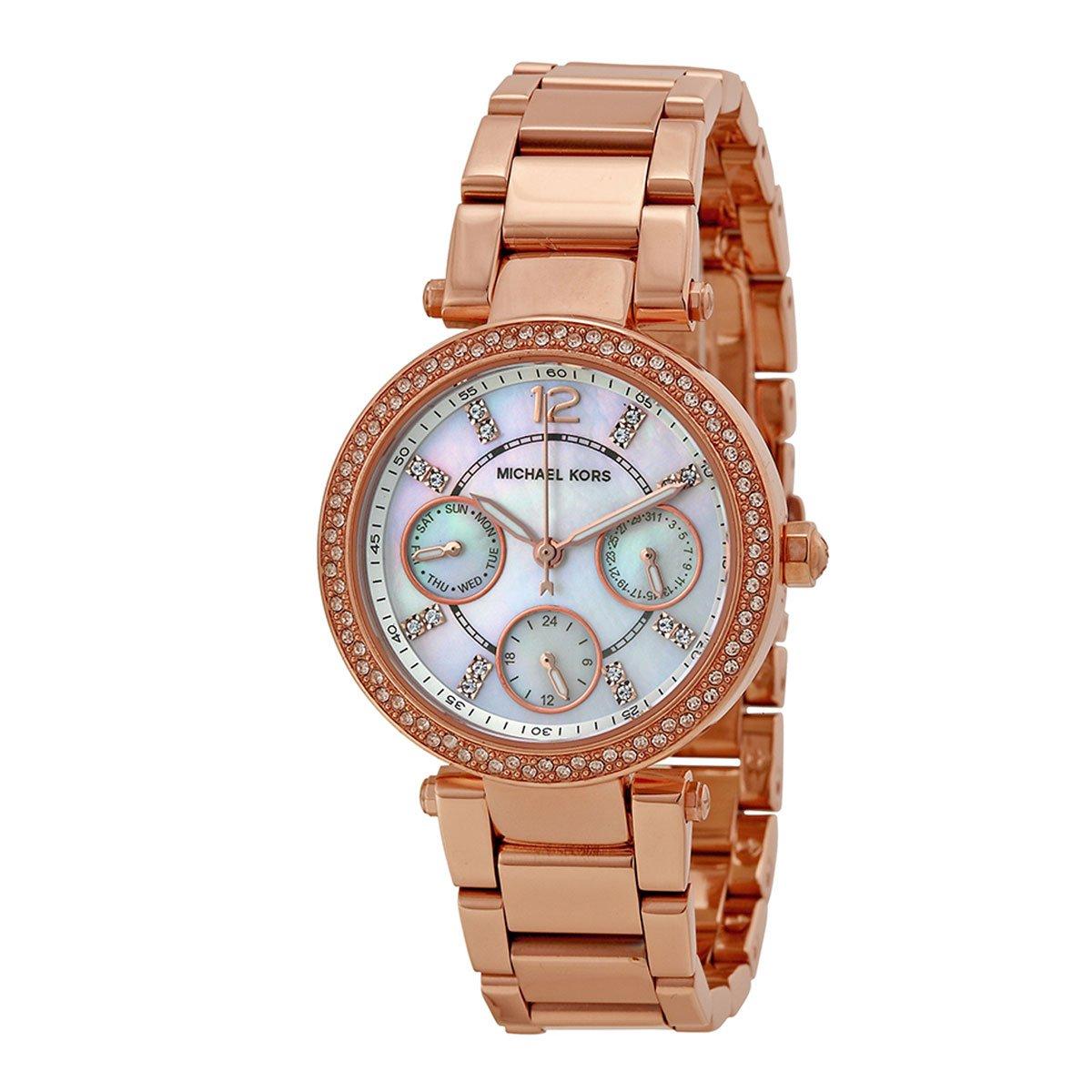 Michael Kors Watches Parker Watch (Rose Gold Metal)