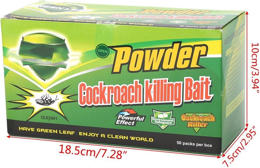 50 repelentes de insecticida para Matar el Cebo y el Control de plagas de cucarachas