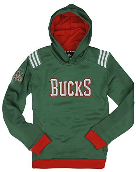 Adidas Performance MilwaUK EE Dólares NBA Grandes Juventud t.c.f. 3 Rayas Sudadera con Capucha para,