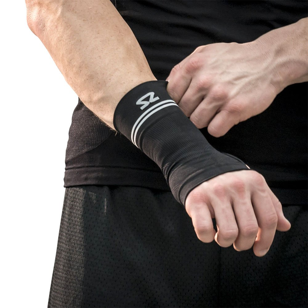 Zensah Compression Wrist Support - Wrist Sleeve for Wrist Pain, Carpal Tunnel - Wrist Support - Wrist Brace, Black, Small