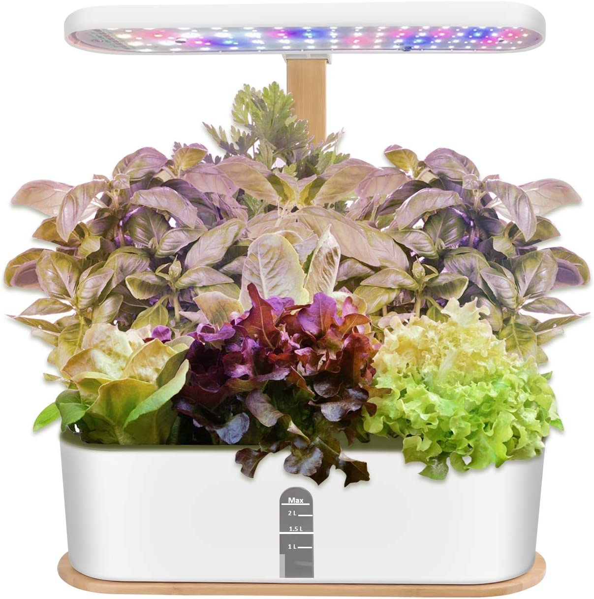 Indoor Hydroponic Herb Garden, Hydroponics Growing System with LED Grow Light, Smart Garden Planter for Home Kitchen, Automatic Timer Germination Kit, Height Adjustable (No Seeds)