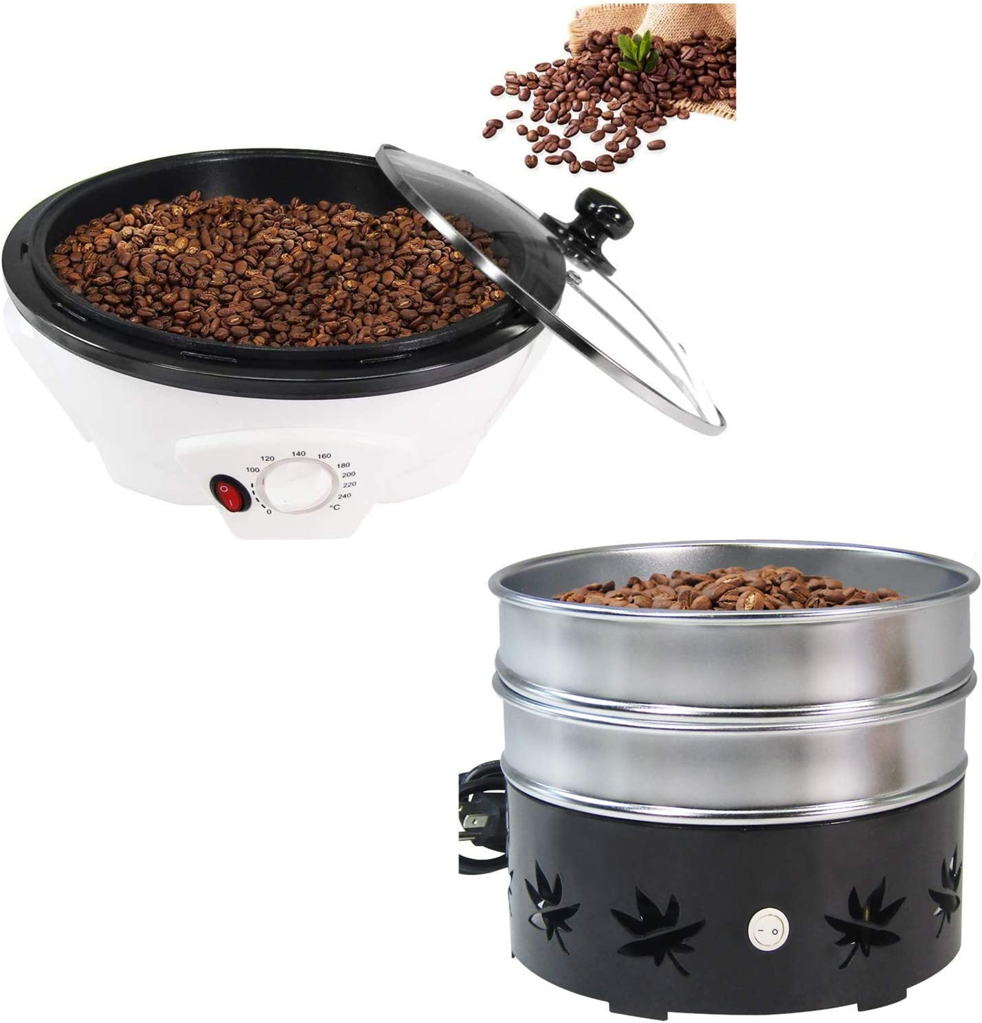 Coffee Roaster for Home Use & 1.1lb Home Coffee Bean Cooler No scattered Chaff