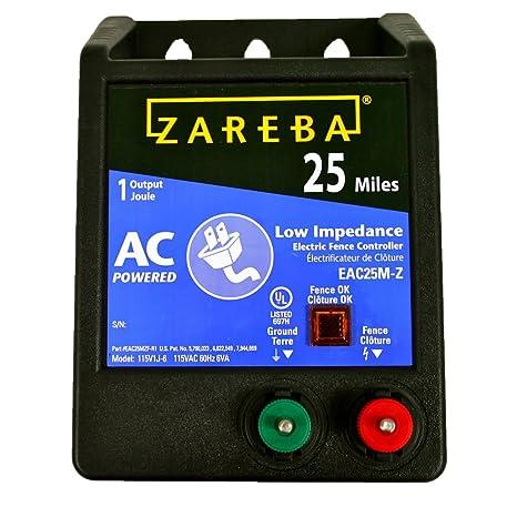 Amazon.com: Zareba EAC25M-Z Cargador cc de baja impedancia ...