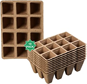 Peat Pots Plant Starters for Seedling - 96 Packs 3 Inch with 100Pcs Plant Labels, Biodegradable Herb Seed Starter Pots Kits, Garden Germination Nursery Pot