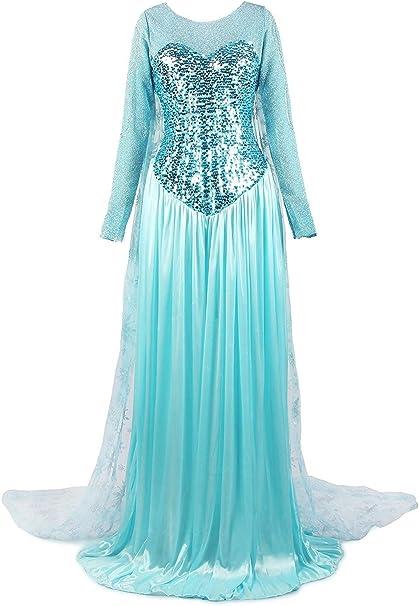 ReliBeauty Women de la Princesa Elsa Disfraz,XS: Amazon.es: Ropa ...