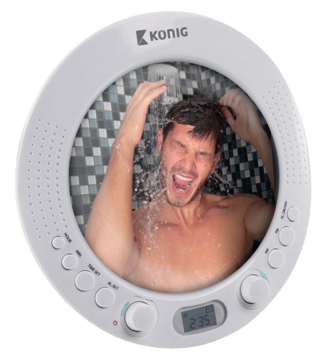Konig AM//FM Shower Radio with Mirror