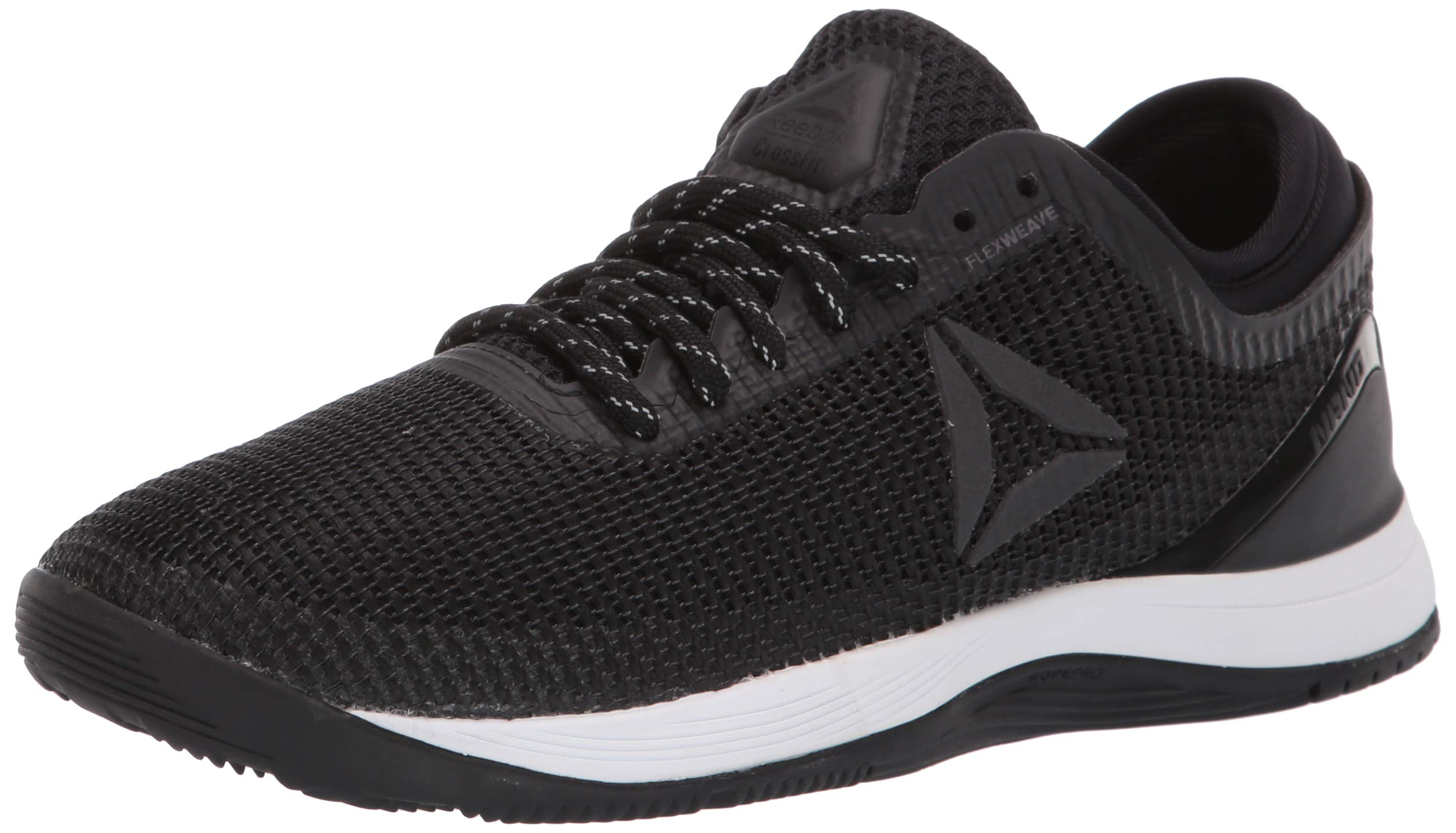 Reebok Women's CROSSFIT Nano 8.0 Flexweave Cross Trainer, Black/White, 5 M US by Reebok (Image #1)