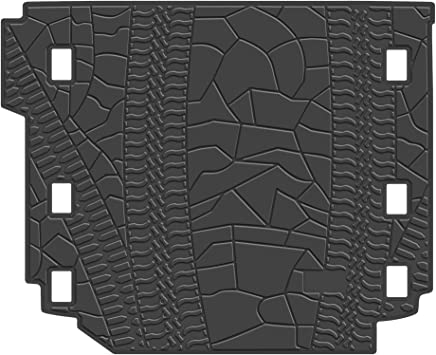 WINUNITE Black Cargo Liner Rear Floor Mat for 2011-2018 Jeep Wrangler Unlimited 4 door TPE Material Cargo Tray All Weather Protector Cover Trunk Cargo Mat with or Without Factory Right Side Subwoofer