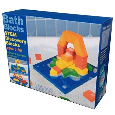 BathBlocks Stem Discovery Blocks Bathtub Toy: Toys & Games