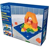 BathBlocks Stem Discovery Blocks Bathtub Toy, Pillows 47 STEM Discovery Blocks