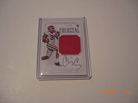 new arrival b828a 6f4f1 Chris Conley 15 National Treasures Jumbo Game Used Jersey ...