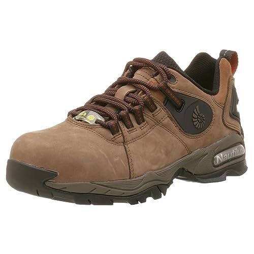 Nautilus Safety Footwear - Zapatillas de Running de Piel para Hombre, Color marrón, Talla 40: Amazon.es: Zapatos y complementos