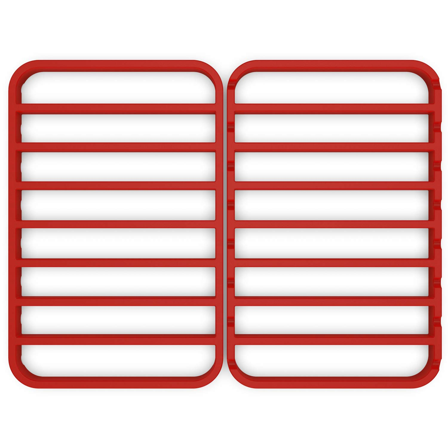 STAN BOUTIQUE Nonstick Baking/Cooling/Roasting Racks for Oven - (12'' X 17'') Silicone, Red